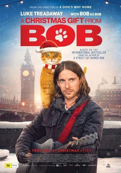 """ดูหนังออนไลน์ฟรี A Christmas Gift from Bob (2020) ของขวัญจาก""""เหมียวบ๊อบ"""""""